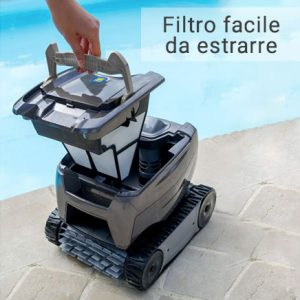 Robot piscina Zodiac TORNAX filtro-facile-da-pulire
